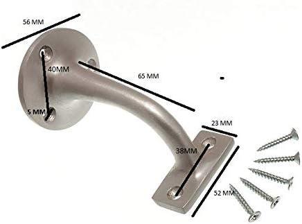 Lot de 12 supports muraux pour rail descalier 75 mm SAA