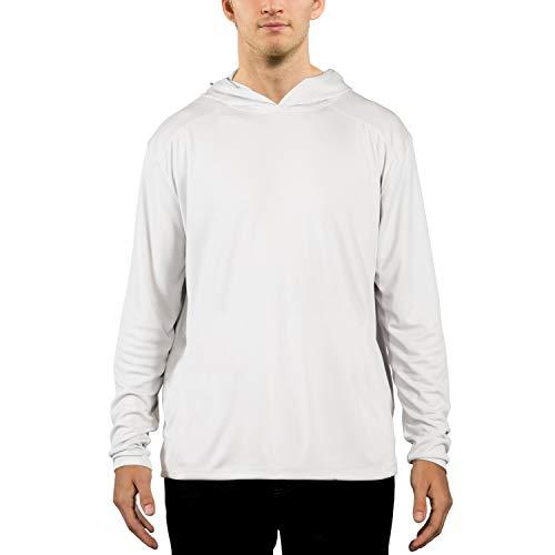 Vapor Apparel Men's UPF 50+ UV Sun Protection Performance Long Sleeve Hoody XX-Large - Pool Long Sleeve