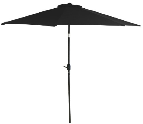Bonnevie 9' Tilt Umbrella, Black