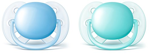 Philips Avent Ultra Soft Pacifier, 0-6 months, Blue/Teal, 2 pack, -