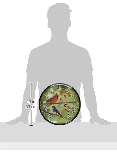 AcuRite 01781 12.5-Inch Wall Thermometer, Songbirds by AcuRite (Image #2)