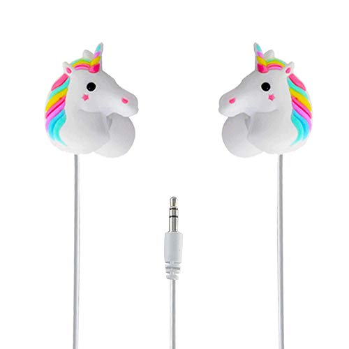 Earbuds for Kids Over 10,Moear 3D Rainbow Unicorn Earbuds with Different Earcap Cartoon Unicorn & Wired 3.5mm for Apple Samsung HTC Android Smartphones Tablets (Best Wallpapers For Lg G2)