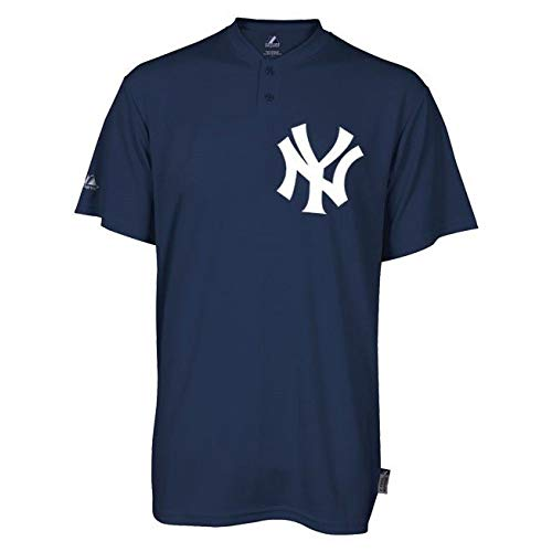 Majestic Two-Button New York Yankees Replica Youth Cool Base Jersey SZ YL (R27)