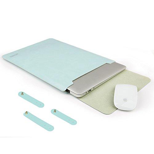 AVJONE Laptop Sleeve,Waterproof Leather Protective Sleek Lap
