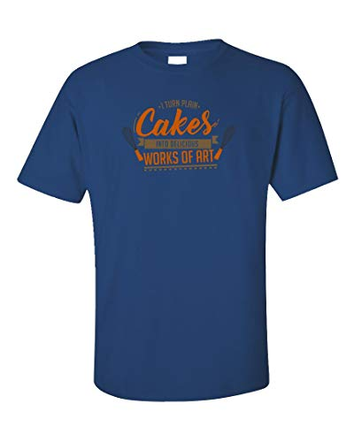 Cake Decorator Bakery Owner Humor - Unisex T-Shirt Royal Blue (Best Cupcake Icing Recipe For Piping)
