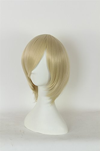 ICOSER Anime Cosplay Short Party Wigs for Women Synthetic Hair (Blond) by i-coser (Image #1)