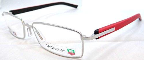 Tag Heuer Trends Rx Eyeglasses Frames Th 8006 005 55x16 Polished Silver - Frames Eyeglass Trends Men For