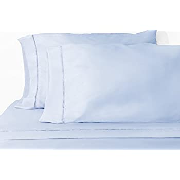 Chic'y Luxe Grace - Premium Microfiber Sheet Set - Super Soft, Hypoallergenic, Wrinkle Resistant, Fade Resistant, Deep Pocket, Embellished – 4 piece (Full, Blue)