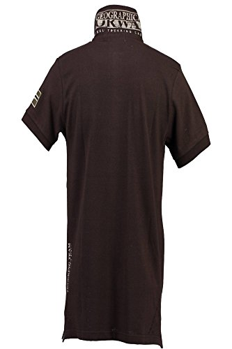 Homme Brown Brun Les Manches Kopervik Geographical Polo Courtes Norway Avec wAx1ZfpRq