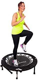 MaXimus HIIT Bounce PRO | Exercise Trampoline For Adults with Handle Bar | Folding Rebounder with Flat or Incl