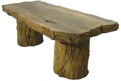 Amazon Com Handmade Fossilized Bench Concrete Table Cf 302 Petrified Log Bench Cast Stone Petrified Wood Table Outdoor Garden Patio Bench Kitchen Dining