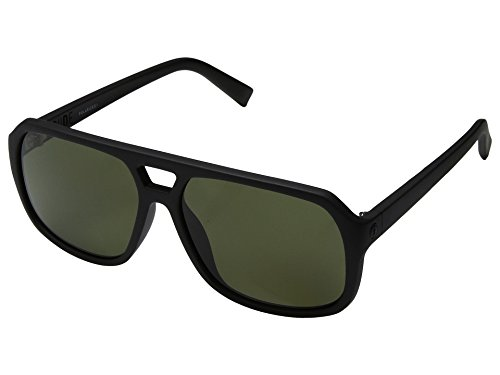 Electric Dude Sunglasses Matte Black with Ohm Grey Polarized - Sunglasses Dude