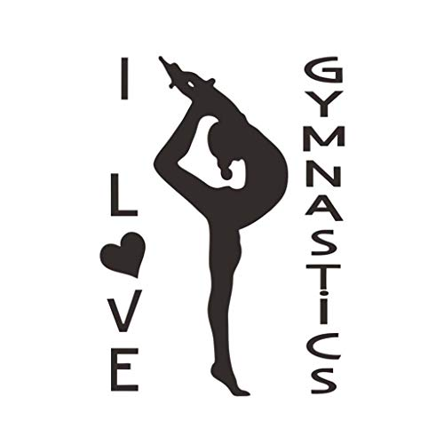 Cyhulu Creative Removable Window Wall Decal, New Yoga Center Meditation Pose Girl Fitness Mural Stickers for Living Room Home Office Gym Art Vinyl ()