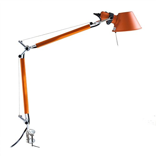 MODO CL-02 Mini Orange Color Office Desk Lamp Polished Aluminum Lights