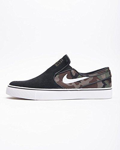 NIKE Men's Zoom Stefan Janoski Slip Black/White/Multi Color Skate Shoe 11 Men US