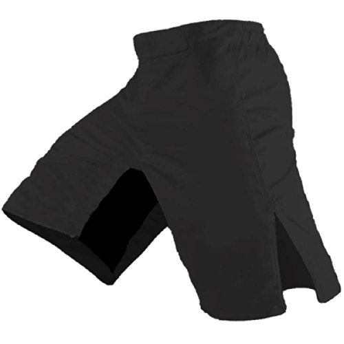 Quality MMA Shorts - Blank No Logo (32, Black) ()