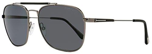 Tom Ford Sunglasses TF 377 Edward Sunglasses 09D Gunmetal and Black - Tf Sunglasses