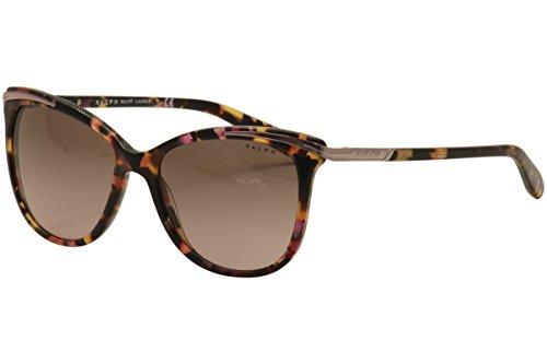 Ralph by Ralph Lauren Women's 0ra5203 Cateye Sunglasses, Pink Marble, 54.0 mm