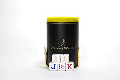 Johnnie WalkerエレガントDice Cup withストレージコンパートメント。5Engraved Poker Diceの商品画像