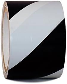 "wide x T.R.U 4/"" in SST-618C Black /& Yellow Hazard Warning Safety Stripe Tape"
