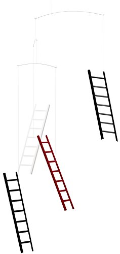 Mobile Step - 7 Steps Four Heaven Hanging Mobile - 26 Inches - Handmade in Denmark by Flensted