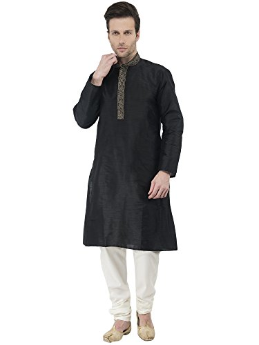 Mens Kurta Pajama Indian Wedding Wear Mens Ethnic Traditional Long Sleeve Kurta Pajama -M