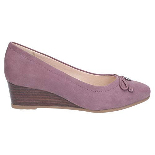 Shoes Wedge Puppies Charm Morkie Plum Hush Light Leather Womens Heel OSw0dXqd