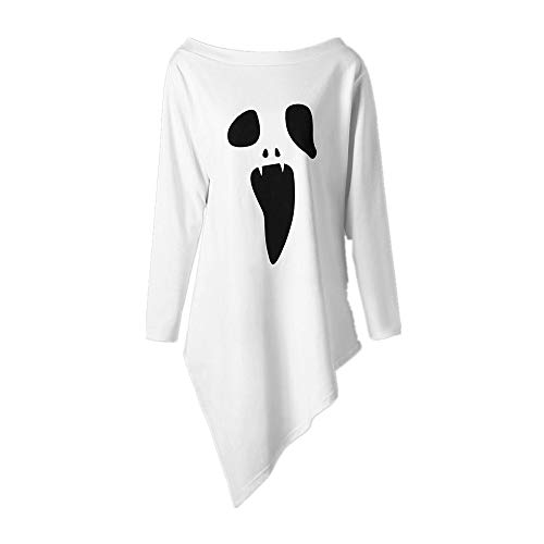 Cheap SMALLE ◕‿◕ Clearance,Womens Halloween Long Sleeve Ghost Print Sweatshirt Pullover Tops Blouse