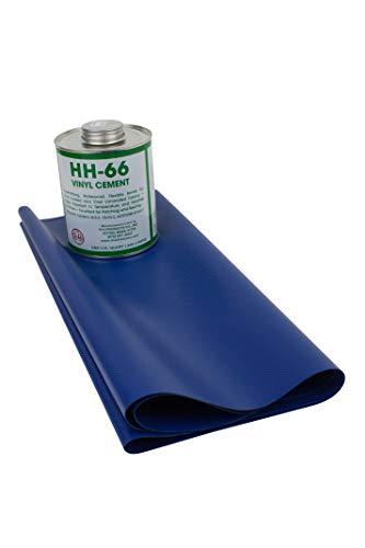 18oz Tarp Vinyl Repair Kit HH66 (Blue) (Tarp Blue Vinyl)