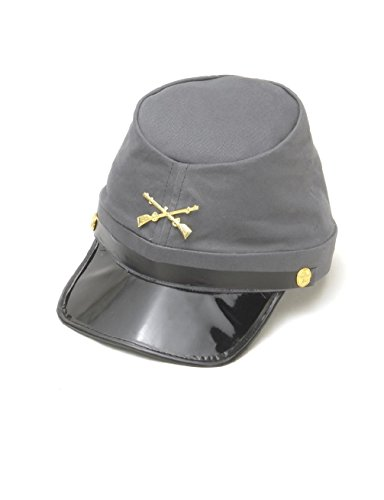 Adult Confederate Soldier Costumes - Confederate Army Soldier Kepi Hat Civil War Cap Adult Costume Accessory