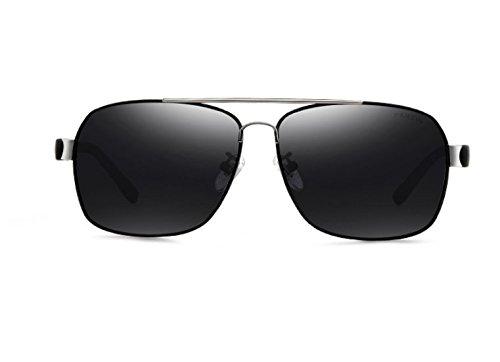 Polarizador Frame Hombres Y Black Espejo Retroceder Black Polarizados De Sol De Fotograma Film Rodajas Circular Gafas Lentes Naranja Gray NHDZ Negro Cx5wUx
