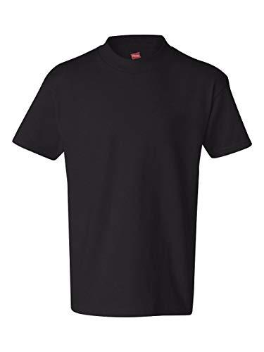 Hanes Youth 6.1 oz. Tagless T-Shirt, Medium, BLACK
