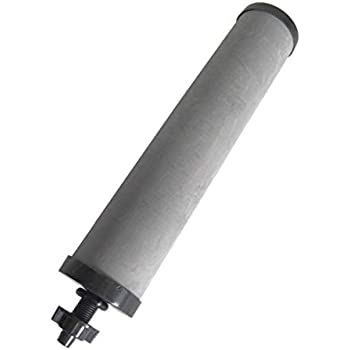 SHTFandGO 10 Inch Black Filter Replacement Compatible with Berkey, Doulton, and Others (Does not fit Fluoride Filter)