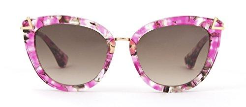 Sonix Women's Melrose Sunglasses, Petal Pink/Brown Fade, One - Sunglasses Melrose