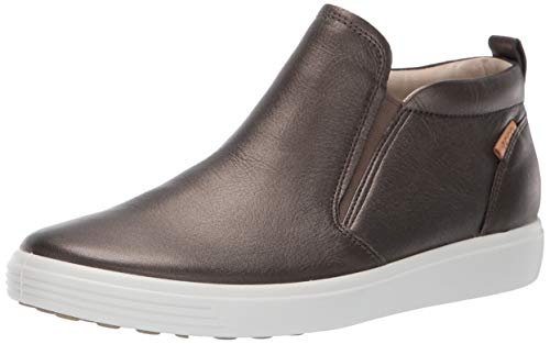 - ECCO Women's Women's Soft 7 Slip On Boot Sneaker, Black Stone Metallic, 39 M EU (8-8.5 US)