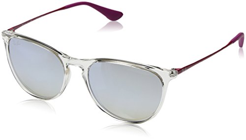 Ray-Ban Girls' Plastic Woman Non-Polarized Iridium Round Sunglasses, Transparent, 50 mm