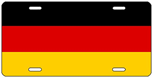 Rogue River Tactical German Flag License Plate Novelty Auto Car Tag Vanity Gift Germany