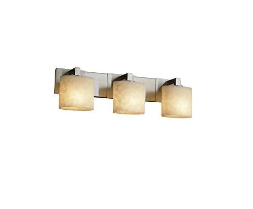 (Justice Design Group Clouds 3-Light Bath Bar - Brushed Nickel Finish with Clouds Resin Shade)