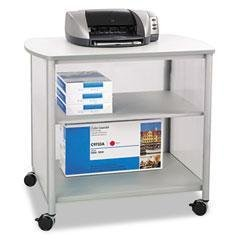 - SAF1858GR - Laminated, Polycarbonate, Steel - Safco Impromptu Deluxe Machine Stand - Each