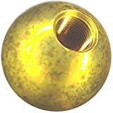 12 1-1/4'' threaded 1/8 - IPS brass balls drilled tapped lamp finials