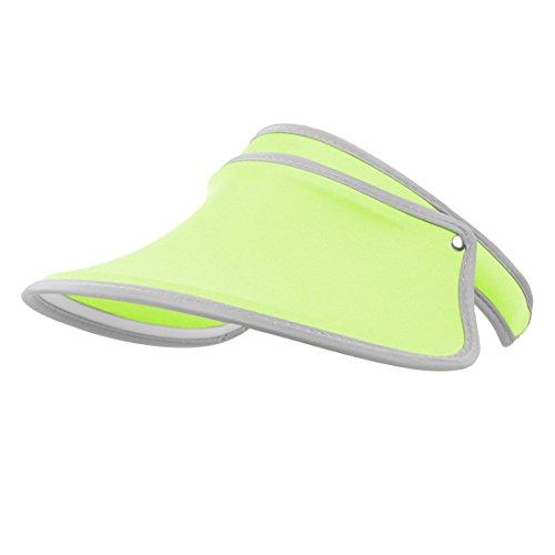 Santwo Women Sports Sun Visor Cap Sweat-absorbent Baseball Travel Adjustable Hat (fluorescent green)