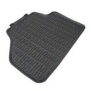 BMW OEM X1 All-weather Rubber Floor Mats, REAR SET-black
