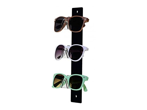 Marketing Holders Acrylic Sunglasses Eyeglasses display with Black Back Glasses Nose (1, 3 - Sunglasses Wall Display