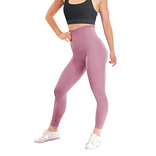 Women's Casual Solid Color Twill Hip Exercise Fitness Running Yoga Pants Wine