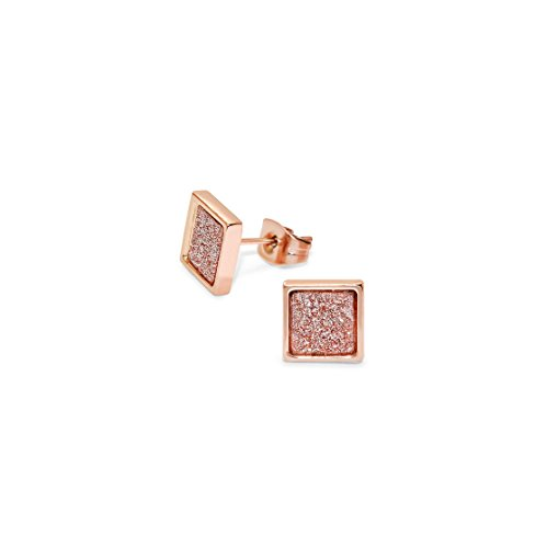 Price comparison product image 316L Surgical Grade Stainless Steel Square Ear Studs