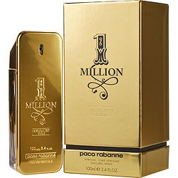 1 Million Absolutely Gold by Paco Rabanne Pure Perfume Spray 3.3 oz for Men ()