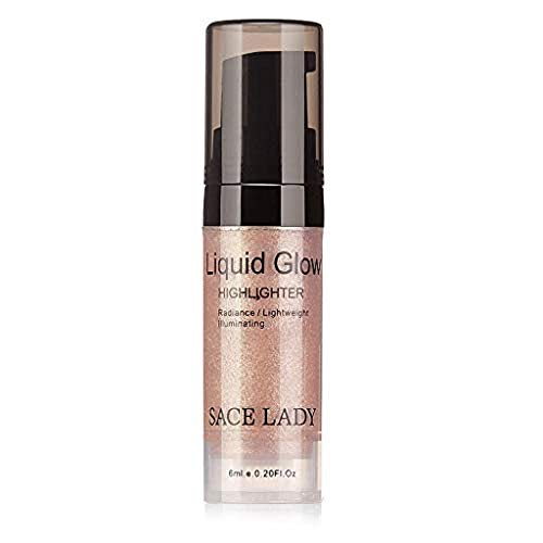 (Clearance Sale!UMFunLiquid Glow Highlighter Lip Foundation Makeup Shimmer Cream Facial Bronzer Conto)