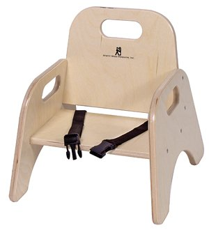 Wood Classroom Toddler Stackable Chair with Strap Seat Height 9u0026quot;  sc 1 st  Amazon.com & Amazon.com: Wood Classroom Toddler Stackable Chair with Strap Seat ...