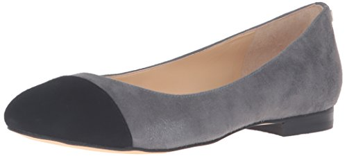 Ivanka Trump Women's  Jocelyn Cap Toe Flat,Grey,6.5 B(M) US