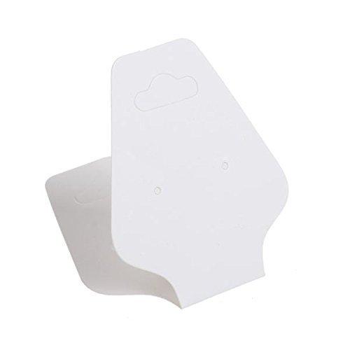 200 Cartoncini in Carta Bianca Espositori per Orecchini Bracciale 105x45MM R SODIAL